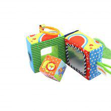 Baby Toys Cute Cloth Cover Building Blocks Multifunction Puzzle Ring Rattle