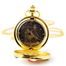 Seasonal Beautiful Girl Pattern Design Pocket Watch