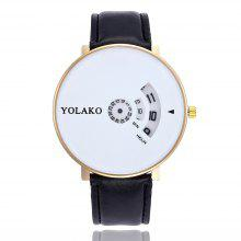 New Fashion Male and Female Belt Large Dial Business Quartz Watch