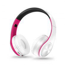 Foldable Lightweight Wireless Headset with Hi-Fi Stereo Soft Earmuffs Microphone