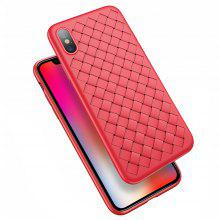 Super Soft Phone Case for iPhone X Luxury Grid Weaving PlusCover Silicone