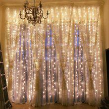 304LED 9.8FT Window Curtain String Lights for Party Wedding Garden Home
