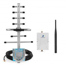 Phonetone 65dB Cell Phone Signal Booster Repeater Amplifier Kit for 850/1900MHz
