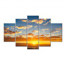 Sunset Over the Sea Frameless Printed Canvas Art Print 5PCS