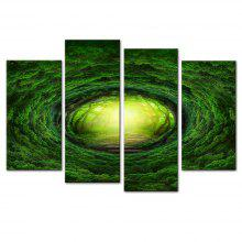 Eye of The Forest Frameless Printed Canvas Art Print 4PCS