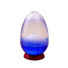 Home Decoration Fun Dynamic Egg Shell Volcanic Eruption Hourglass