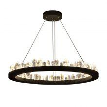Nordic Natural Smelting Crystal Metal Chandelier Postmodern Luxury Pendant Light