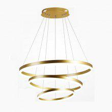Three-Circle Circular LED Chandelier Pendant Light for Living Room Restaurant