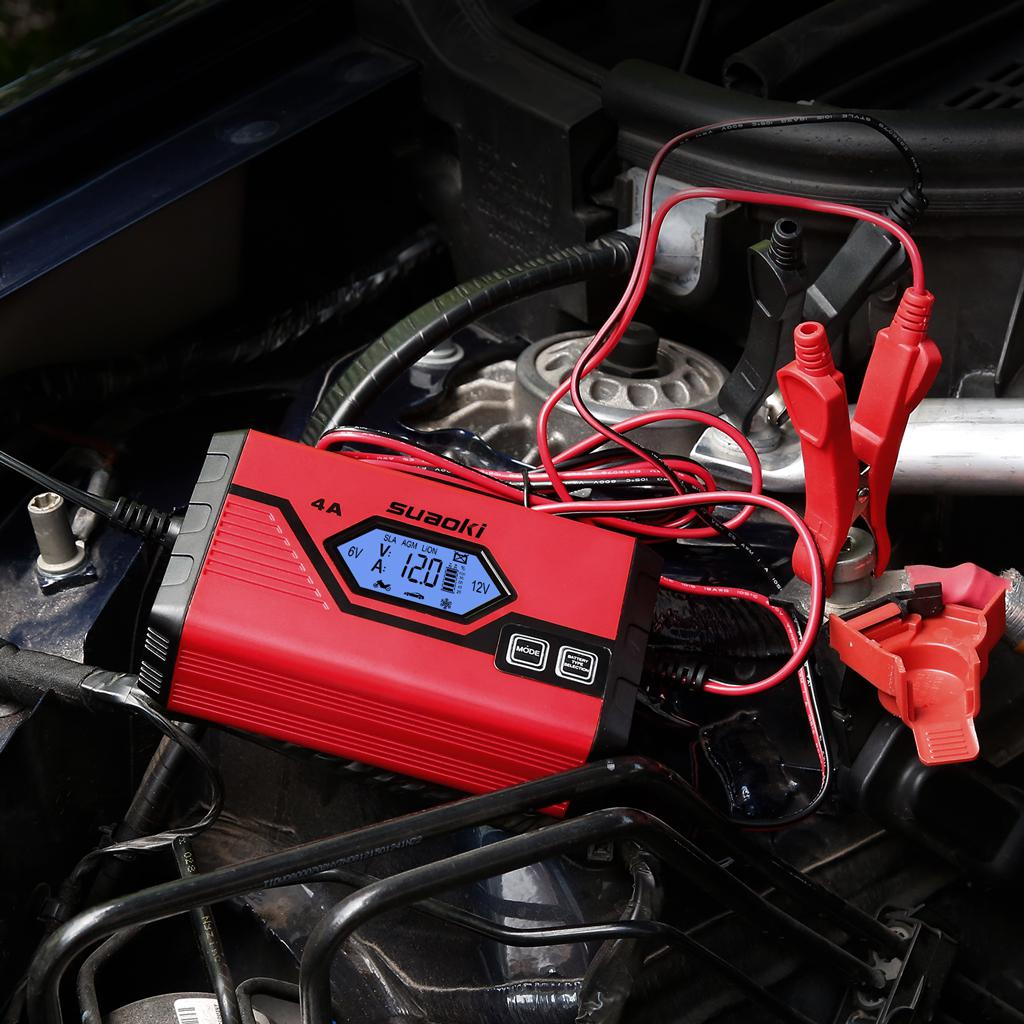 SUAOKI Car Battery Charger 4 Amp 612V Fully Automatic
