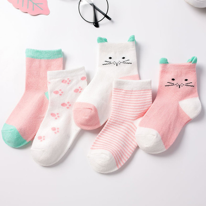 Ultra Thin Ankle Socks Black And White Spots Stretch And Pretty Girls