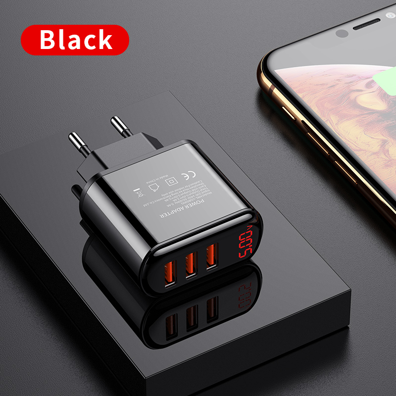 for iPhone 11//11 Pro//Max Samsung and More AirPods Pro 8 Ports PD 18W USB C Charger Multiple Desktop Chargers with Tpye C Port and LCD Display Huawei USB Charging Station
