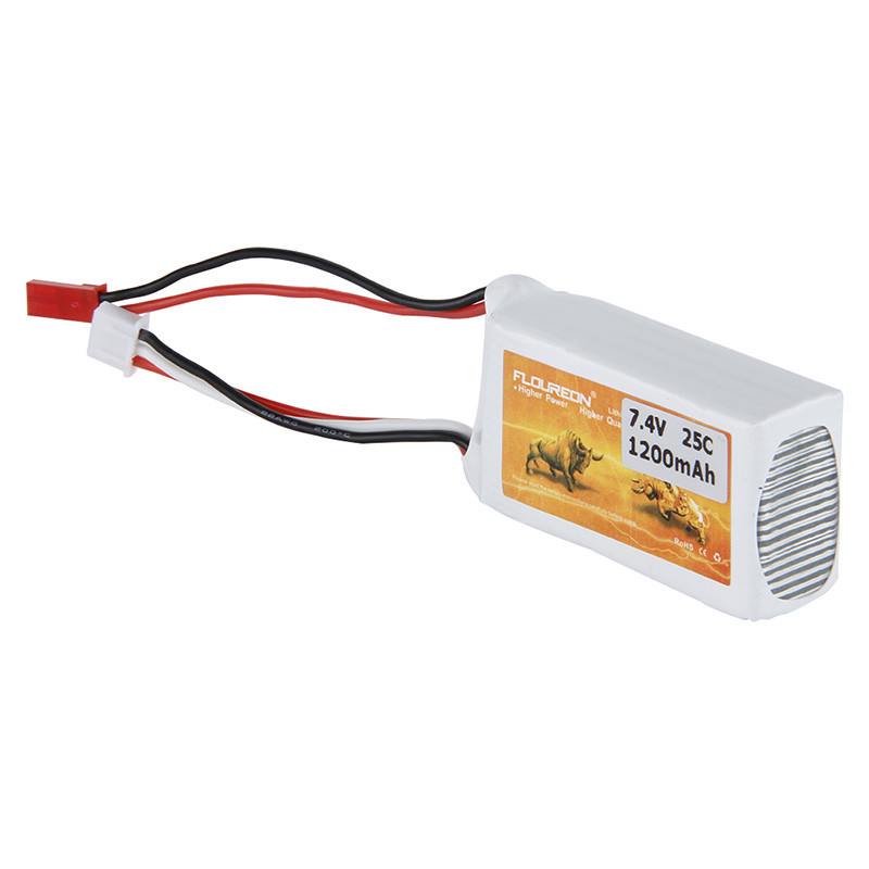 7.4V 2S 1200mAh 20C LiPO Battery JST plug for RC Model Airplane Helicopter Drone