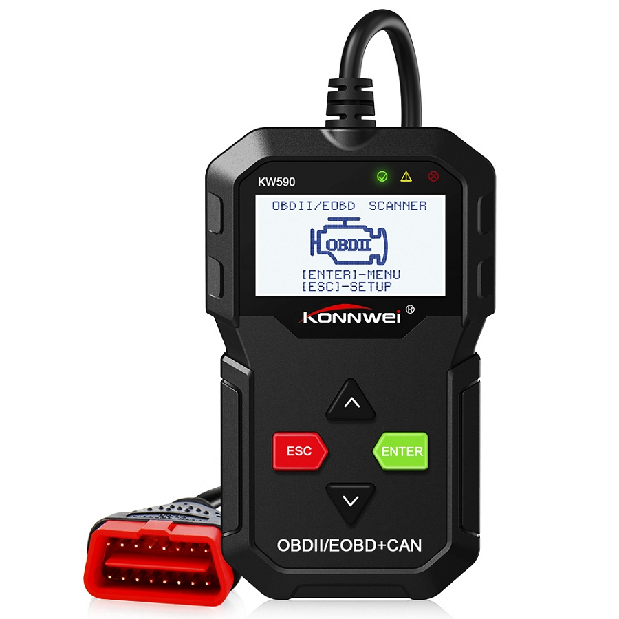 2019 Diagnostic Fault Code Scanner OBDII//EOBD Color LCD Display Automotive  tool