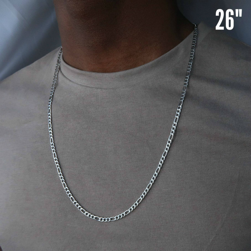 Fashion Classic Figaro Chain Necklace Men Stainless Steel Silver Gold Color Long Necklace Sale Price Reviews Gearbest Mobile