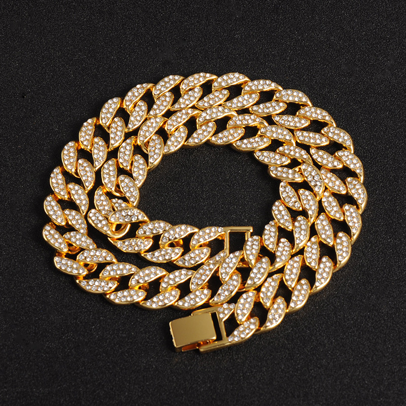 Men cool 925 Silver Miami Cuban Link Diamond Neclace Hip Hop Cooker 16/'/' To 30/'/'