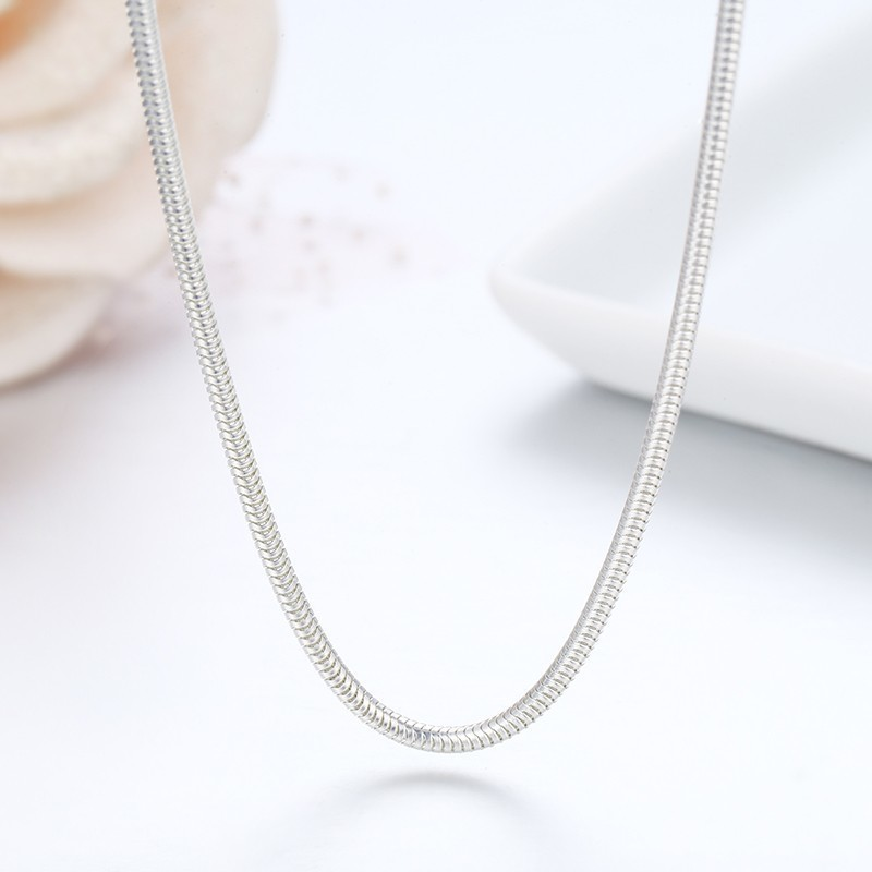 24 inch 1.55 mm Round Sterling Silver Snake Chain Quality Manufacturing Silver Necklace For Pendants