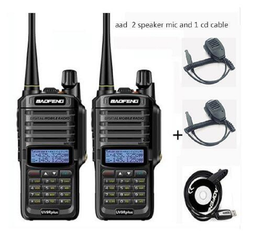 UV-9r Plus 10W Waterproof Walkie Talkie Wireless CB Radio 15km 20km Long Range Hiking Talkies