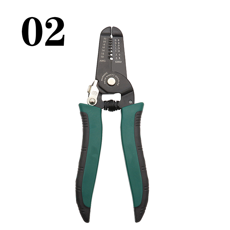 Portable Wire Stripper Pliers Crimper Cable Stripping Crimping Cutter NIGH