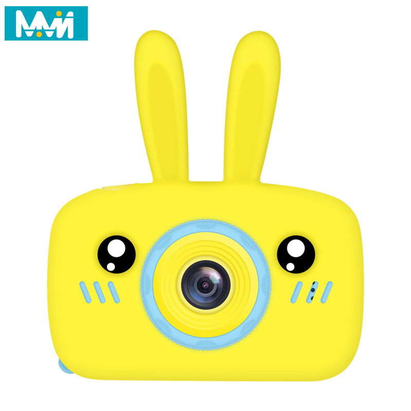 FIXTOR Kids Camera for Girls and Boys Blue Kids Digital Camera 1080P HD 2 Inch IPS Screen and Anti-Drop Children Self Cartoon Camera with Soft Silicone Case for 3-10 Years Children Gift