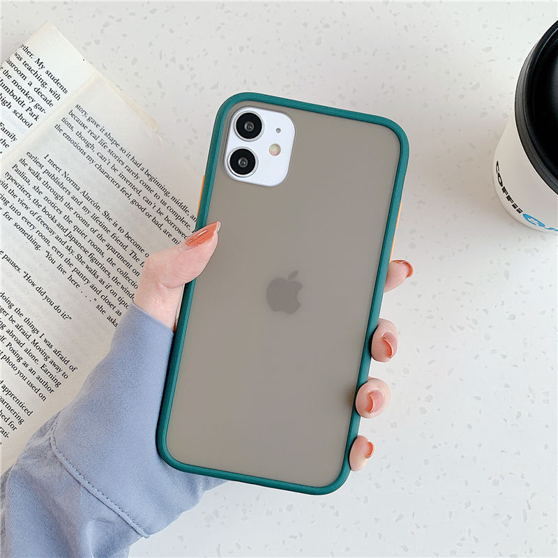 Mint Hybrid Simple Matte Bumper Phone Case For iPhone 11 Pro Shockproof Soft TPU Silicone Clear Cover