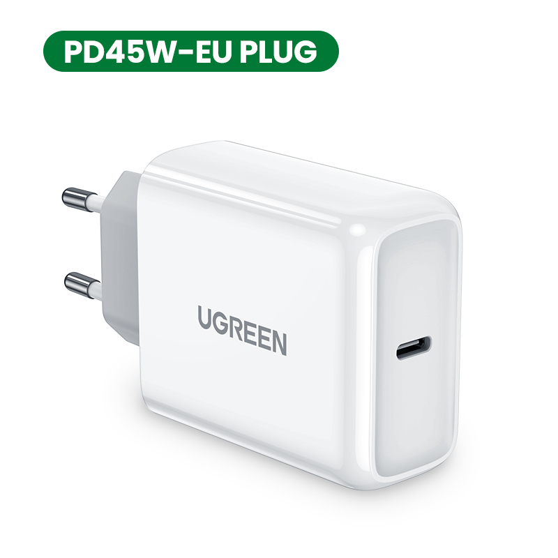 UGREEN USB PD Charger 45W Quick Charge 4.0 3.0 Fast Charger iPhone 11 8 Xs iPad USB C Charger Notebook Redmi Note 7