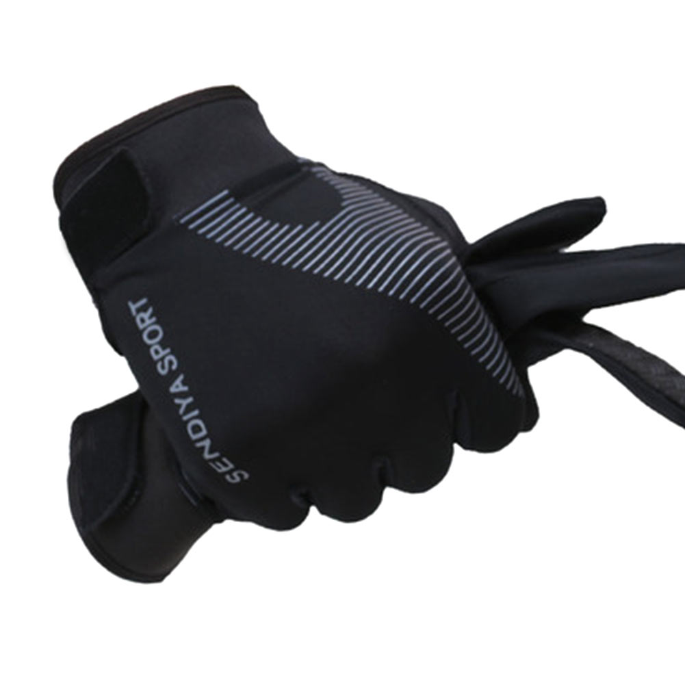 1 Pair Bike Bicycle Gloves Full Finger Touchscreen Gloves Breathable Mittens