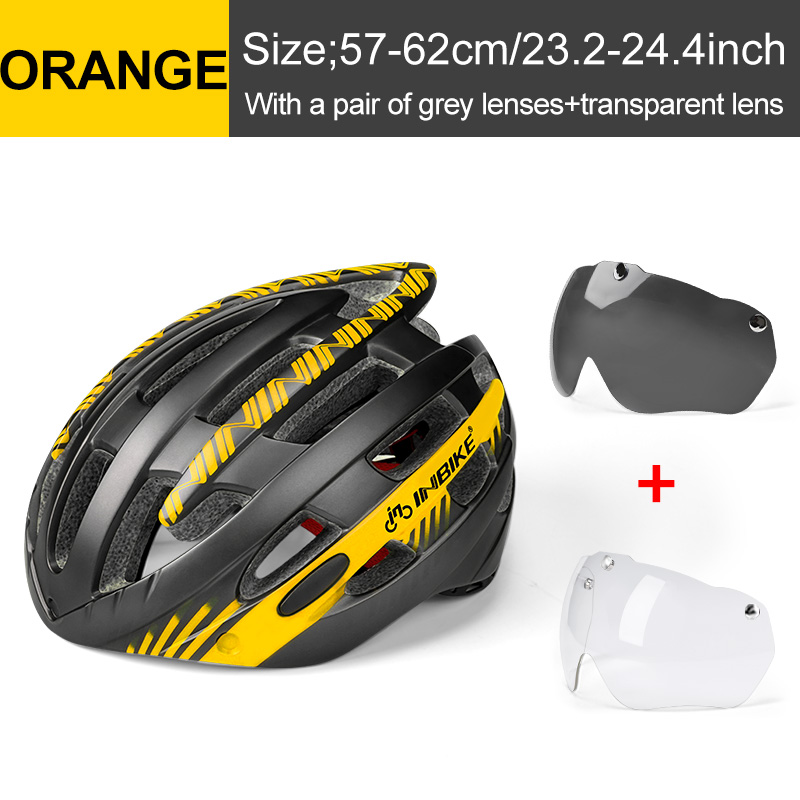 Professional Road Mountain Bike Helmet with Glasses Ultralight DH MTB