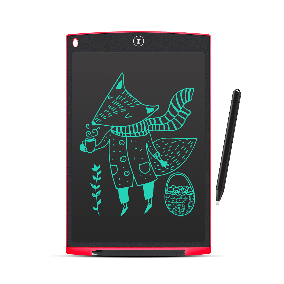 LCD Writing Board//Childrens Drawing Graffiti Board//Message Board//Electronic Note Board//with Lock Screen School Magnet//Suitable for Home Office Pink - 8.5 Inch