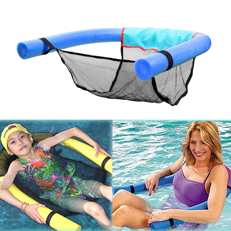 Comfortable Floating Noodle Chair for Kids and Adults Floating Noodle Chair CaCaCook Floating Chair Pool Party Floats Accessory Buoyancy Foam Stick Water Mesh U-Seat Swimming Pool Pool Chair