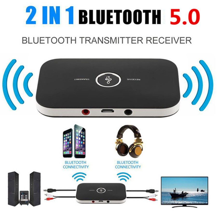 Bluetooth 5.0 Adapter Dongle AUX RCA Audio Receiver Transmitter with NFC #LY