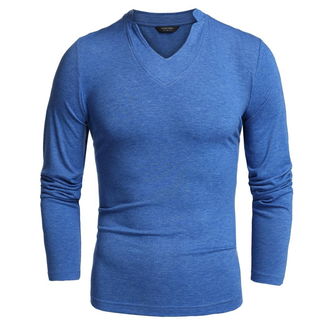 Mens Basic Long-Sleeve Round-Neck Tops Guard Fashion Personality Pattern Pullover Blouse