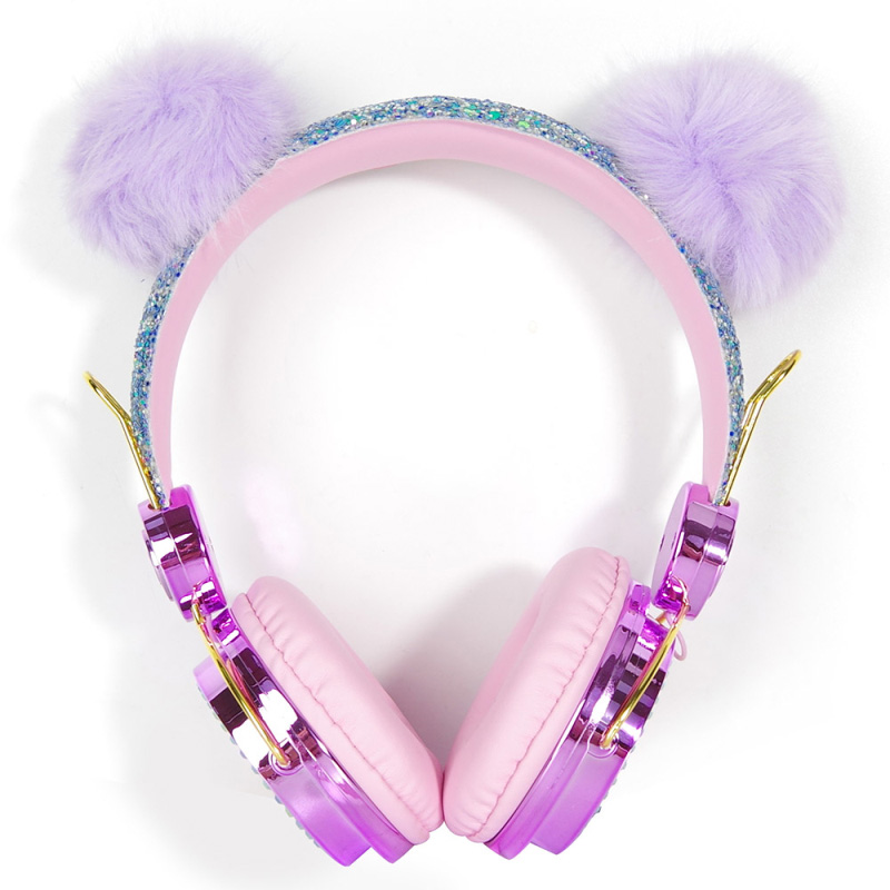 Headphones Christmas 2021 Cute Diamond Wired Headphones Music Headset For Kids Children Christmas Brithday Gifts Sale Price Reviews Gearbest