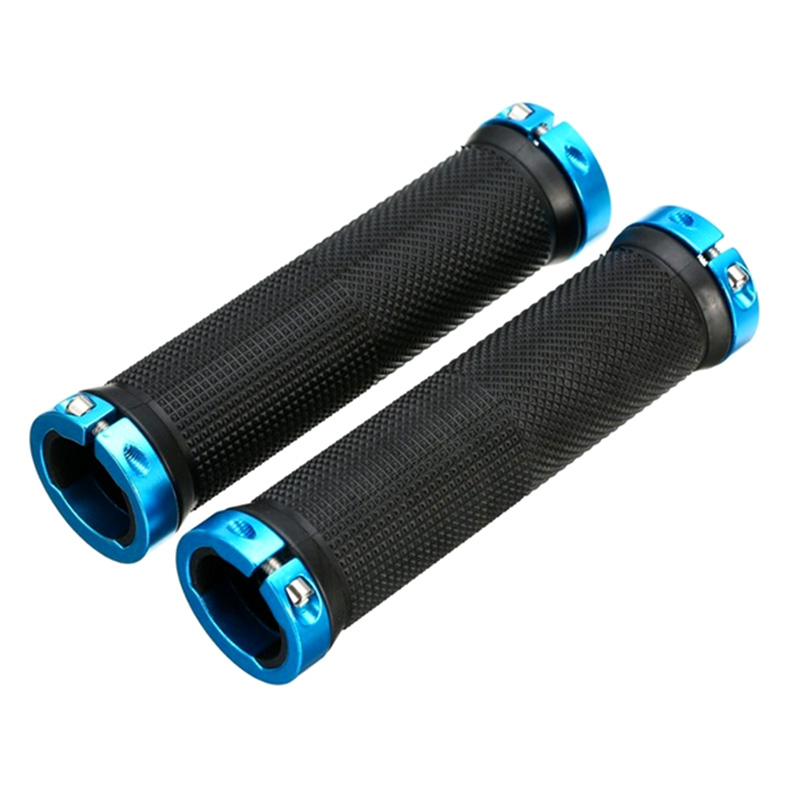 MTB Bike Bicycle Cycling PU Leather Shockproof Grip anti-Slip Handlebar Grips