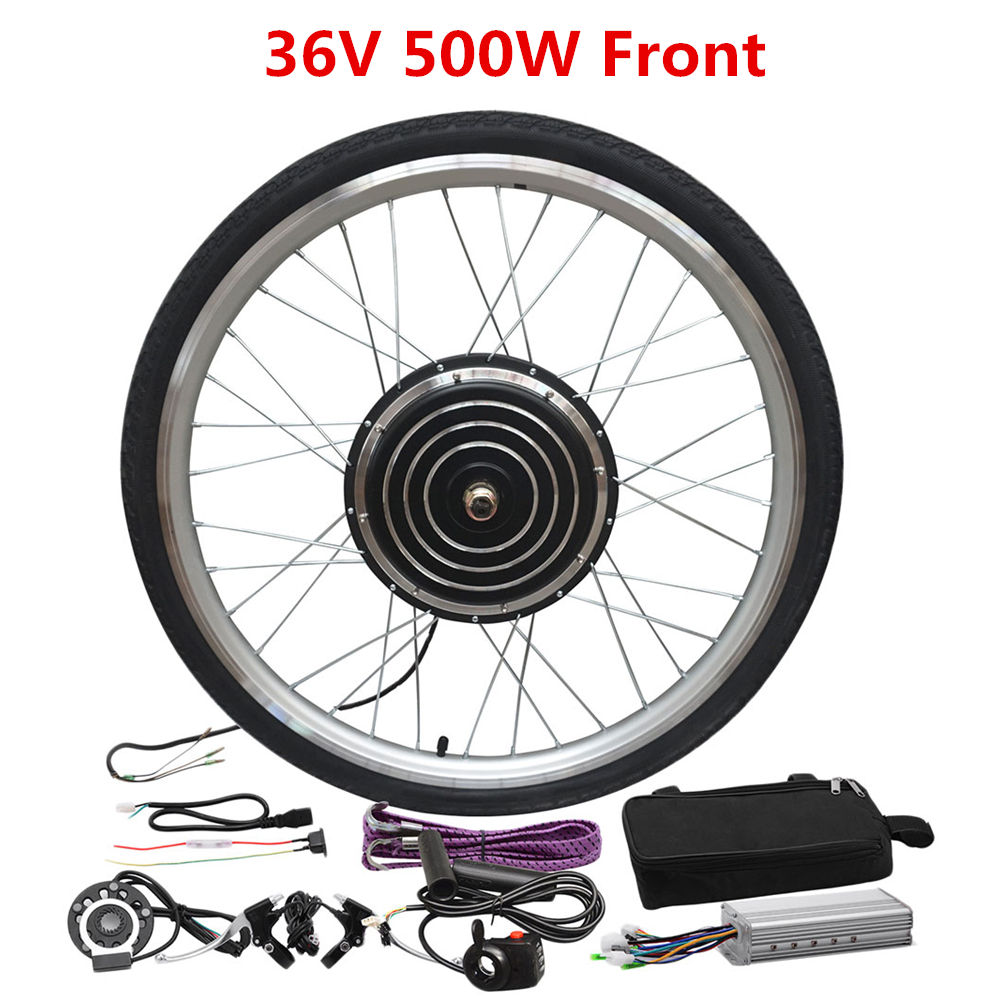 Rotating flywheel LCD Display and Speed Adjustable 48V 1000W 26inch E-Bike Conversion Kit Cycling Hub Motor with Intelligent Controller Ebike Conversion Kit