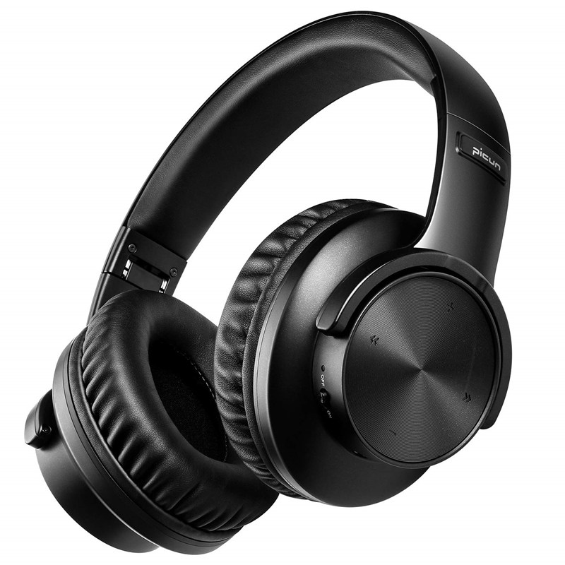 Picun B8 Bluetooth V5.0 Headphones 40H Playtime Touch Control Wireless Headphone with Mic For phone - Black China