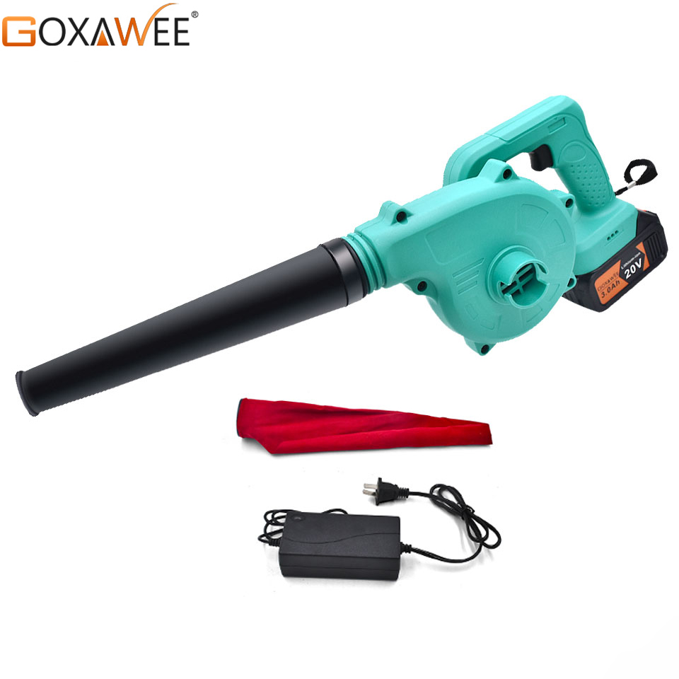 2 in1 Cordless Electric Handheld Air Leaf Blower Vaccuum Duster Inflator