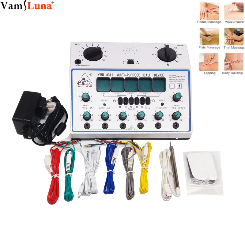 Acupuncture Stimulator Device New Acu-device needles 6 channel pain killer
