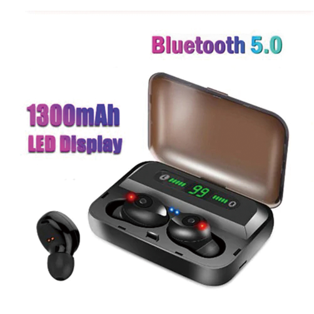 F9 5 Bluetooth Headset 5 0 Headset With Battery Display Emergency Mobile Power Function Black Sale Price Reviews Gearbest