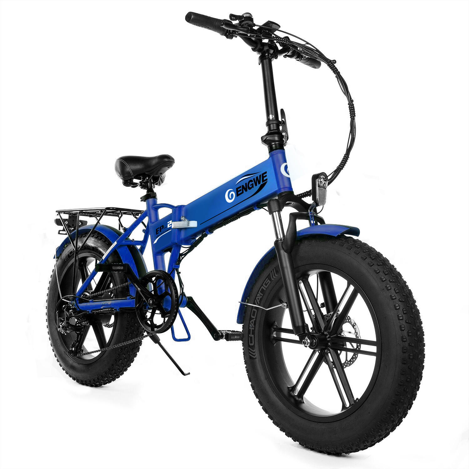 ENGWE EP 2 500W Folding Fat Tire Electric Bike with 48V 12.5Ah Lithium ion Battery