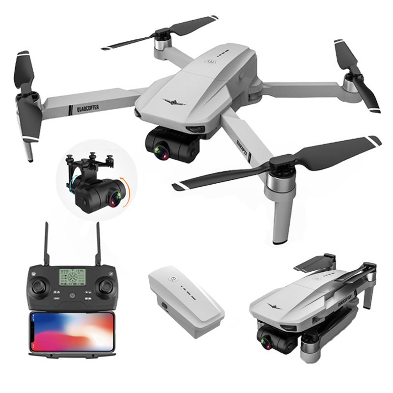 KF102 EIS WiFi FPV Foldable Professional Drone GPS 4K/6K/8K Gimbal HD Camera Optical Flow Positioning Brushless RC Quadcopter - 4K Camera with 1B China