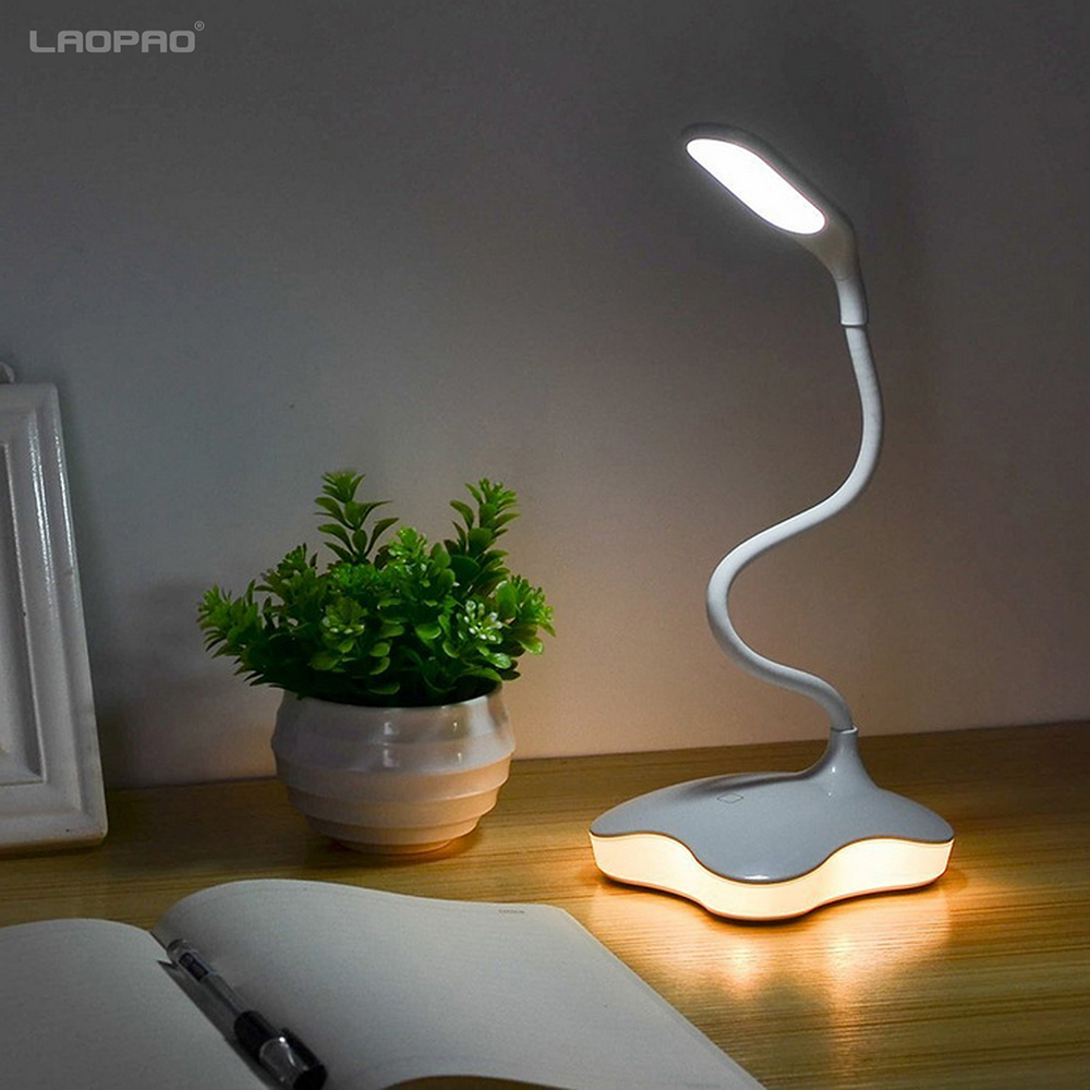 Dimmable LED Table Lamp Brown Work Light LED Desk Lamp 3 Level Brightness Touch-Sensitive Control Panel