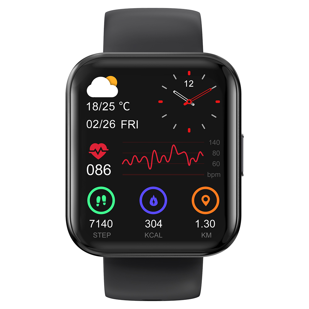 KOSPET MAGIC 3 1.71 inch 3D Curved Full Touch Screen Smartwatch 20 Sports Modes Real Blood Oxygen Test IP68 Waterproof Bluetooth 5.0 - Black