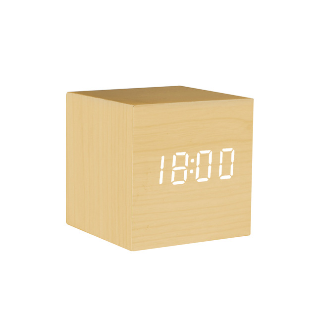 Mini Creative Led wooden Alarm Clock