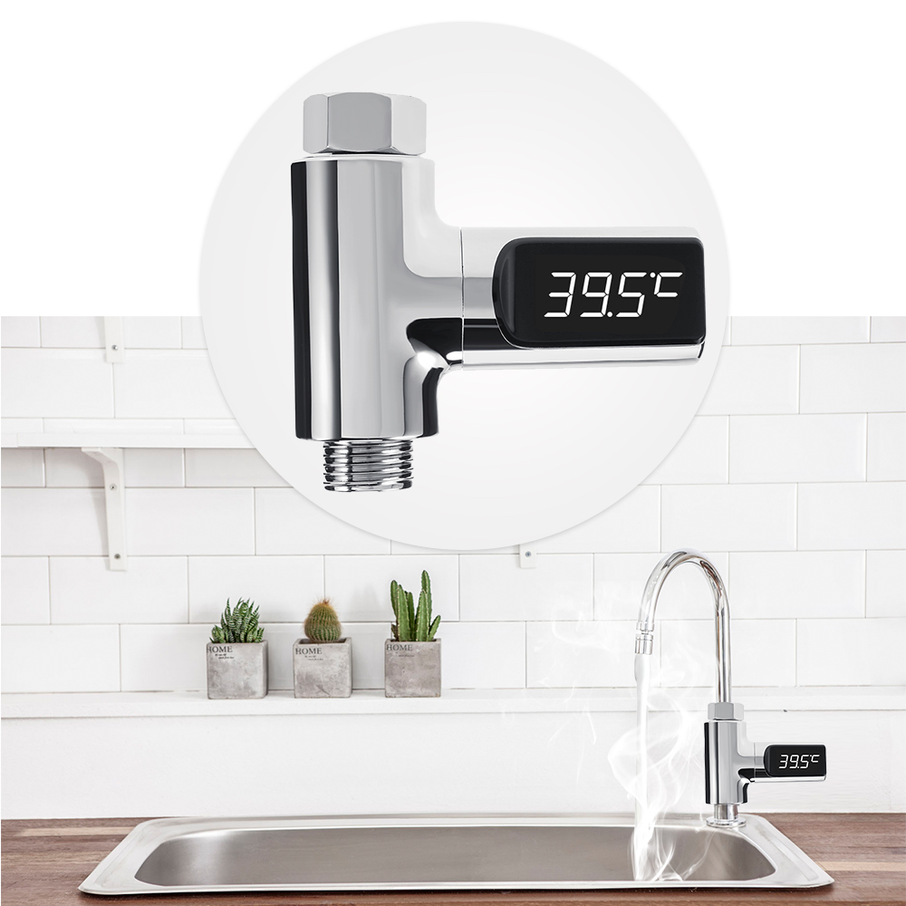 Bathroom Kitchen Led Display Water Temperature Meter Thermometer For Baby Care Sale Price Reviews Gearbest