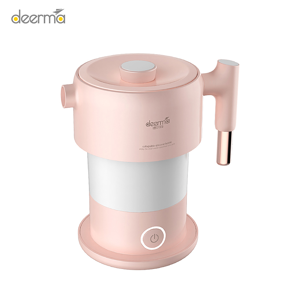 Deerma Retractable Handle Electric Mini Automatic Power-off Kettle Travel 220V