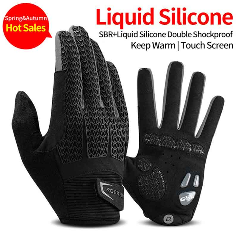 Thermal Cycling Gloves Waterproof Touch Screen Winter Warm BLUE COLOUR SIZE XL