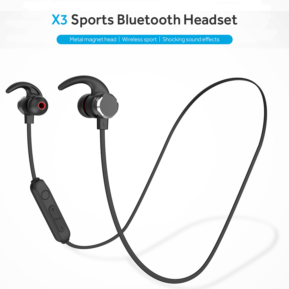 Runfengte 5 0 Bluetooth Earphone Sports Neckband Magnetic Wireless Earphones Stereo Earbuds Music Metal Headphones With Mic For All Phones Sale Price Reviews Gearbest