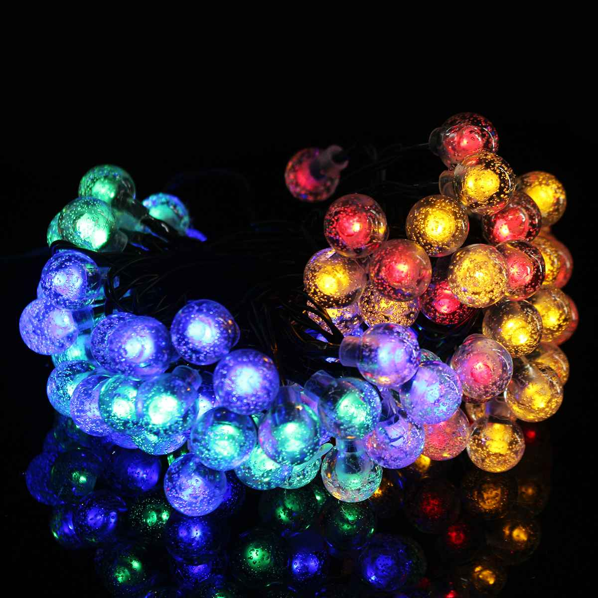 12m 100 Led Crystal Ball Solar Waterproof Outdoor String Lights Solar Powered Globe Fairy String Lights For Christmas Sale Price Reviews Gearbest