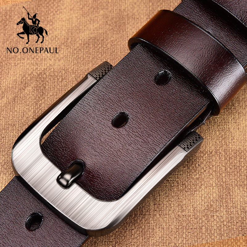 LVLUOYE Men Belt Business Leather Metal Buckle For Automatic Waist Waist