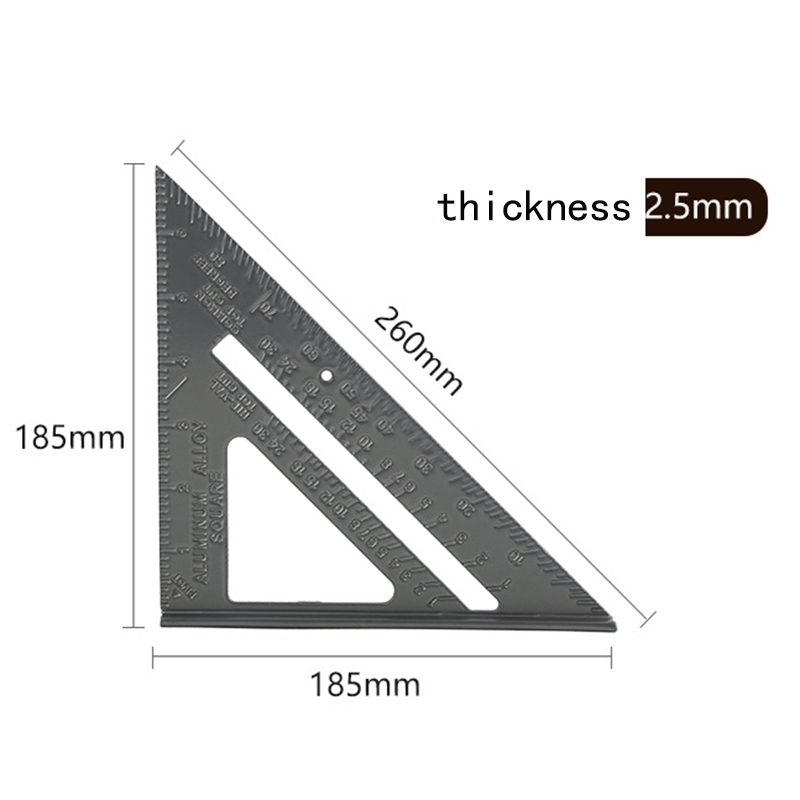 Triangle Angle Ruler Speed Square Angle Protractor Measuring Tools 7 12inch Rulers Aluminum Alloy Woodworking Measurement Sale Price Reviews Gearbest